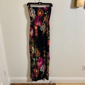 Xhilaration Strapless Floral Maxi Dress
